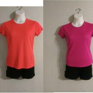 2- Med Women's Nike Dri-Fit Athletic Tshirts